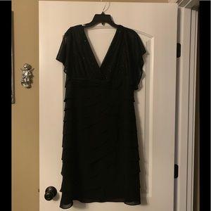 Black holiday cocktail dress